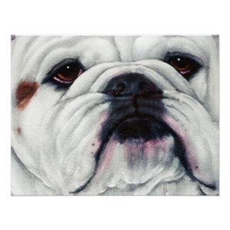 English Bulldog Close and Personal Custom Invitations