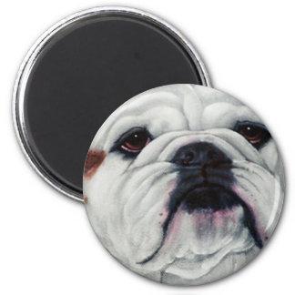 English Bulldog Close and Personal 6 Cm Round Magnet