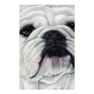 English Bulldog Close and Personal Customised Stationery