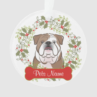 English Bulldog Customizable Ornament