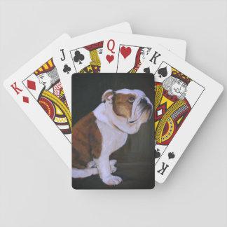 English Bulldog Dog Art Playing Cards