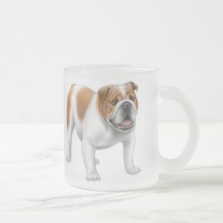 English Bulldog Frosted Mug