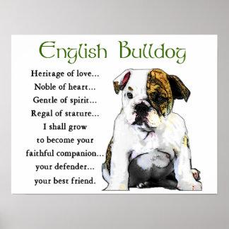 English Bulldog Gifts Poster