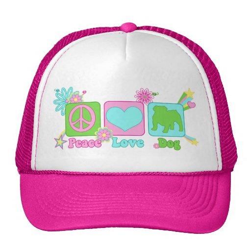English Bulldog Trucker Hats