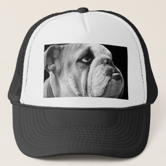 English Bulldog Hat Black