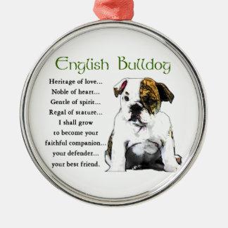 English Bulldog Heritage of Love Christmas Ornament