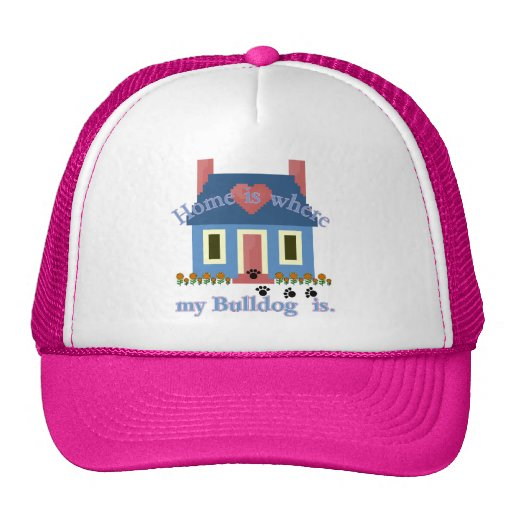 English Bulldog Home Is Mesh Hats