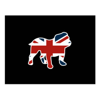 English Bulldog in Union Jack Flag Postcard