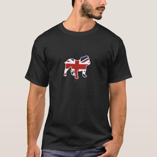 English Bulldog in Union Jack Flag T-Shirt