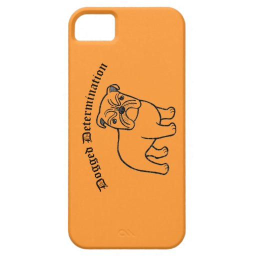 English Bulldog Inspirational quote iPhone Case iPhone 5/5S Cover