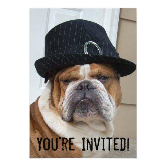 English Bulldog Invitations Birthday/Any Occasion