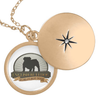 English Bulldog Locket Necklace