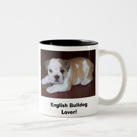 English Bulldog Lover! Two-Tone Coffee Mug