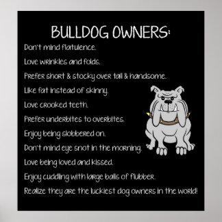 English Bulldog Lovers Poster