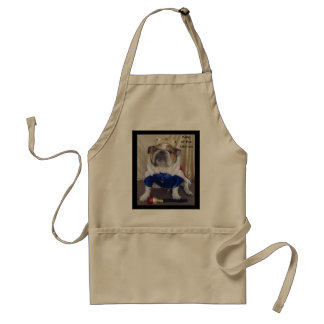 English Bulldog Mens King of the Kitchen APRON