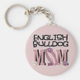English Bulldog MOM Key Ring