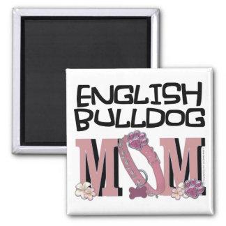 English Bulldog MOM Square Magnet