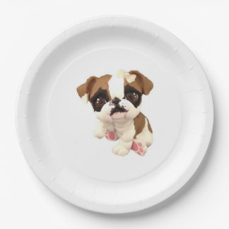 English Bulldog Paper Plate