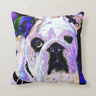 English Bulldog Pop Art Cushion