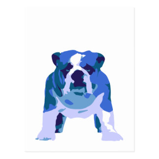 English Bulldog Pop Art Postcard