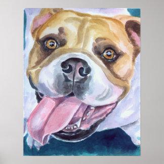 English Bulldog Print Poster