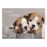 English Bulldog puppy and gifts Greeting Card