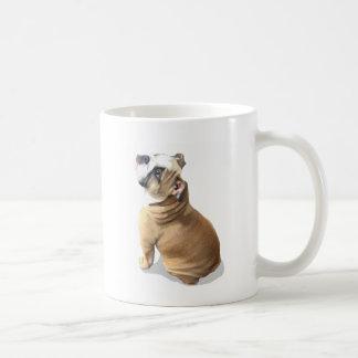 English bulldog puppy basic white mug