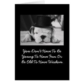 English Bulldog Puppy Birthday Card