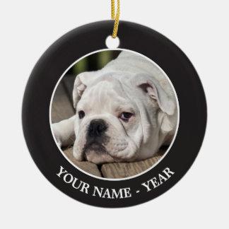 English Bulldog Puppy Christmas Ornament
