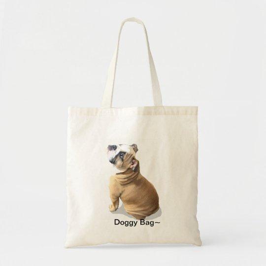 English bulldog puppy dog bag