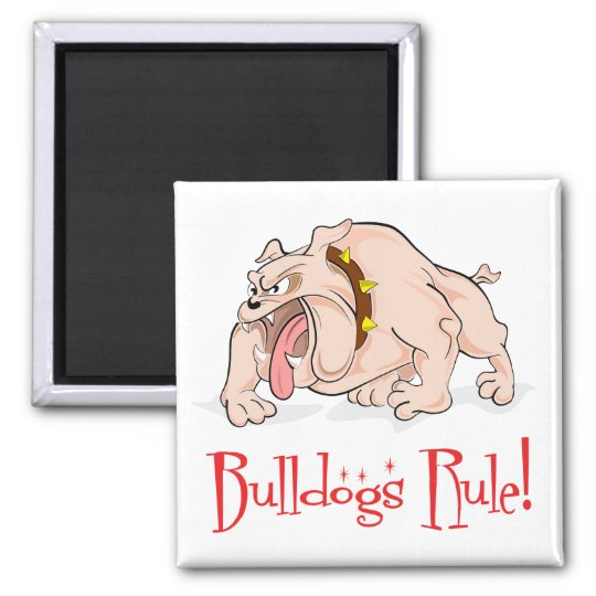 English Bulldog Puppy Dog Cartoon Magnet