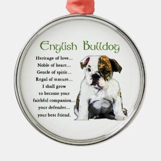 English Bulldog Puppy Heritage of Love Christmas Ornament