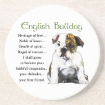 English Bulldog Puppy Heritage of Love Beverage Coaster