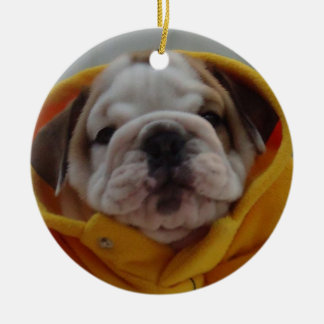 English Bulldog Puppy Ornament
