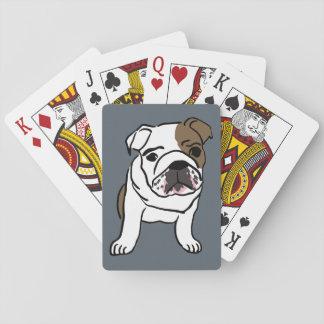 English Bulldog Puppy Pet Dogs Illustration Deck Of Cards