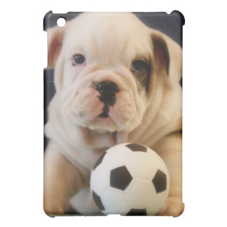 English Bulldog Puppy w/Soccer Ball iPad Mini Covers