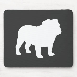 English Bulldog Silhouette Mouse Pad
