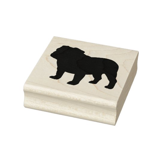 English Bulldog Silhouette Rubber Stamp