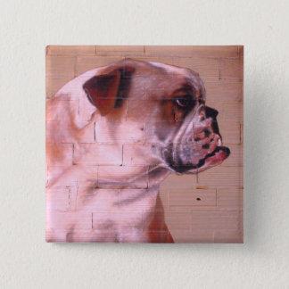 English Bulldog Street Art 15 Cm Square Badge