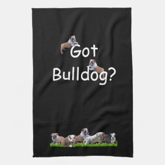 English Bulldog Tea Towel
