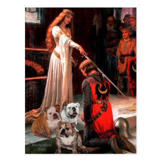 English Bulldog Trio - The Accolade Postcard