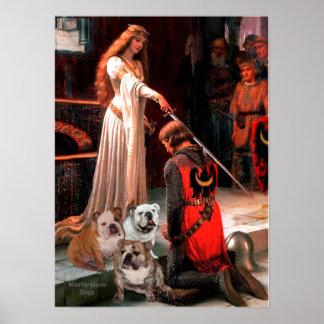 English Bulldog Trio - The Accolade Poster