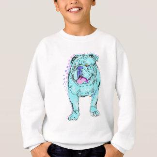 English Bulldog unique colorful pop dog art Sweatshirt
