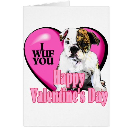 English Bulldog Valentine's Day Gifts Card