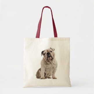 English Bulldog White And Tan Puppy Dog Tote Bag