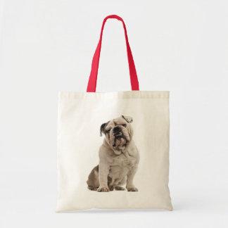 English Bulldog White And Tan Puppy Dog Tote Bag