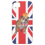 English Bulldog with Crown and Union Jack  Bow Tie iPhone 5 Case