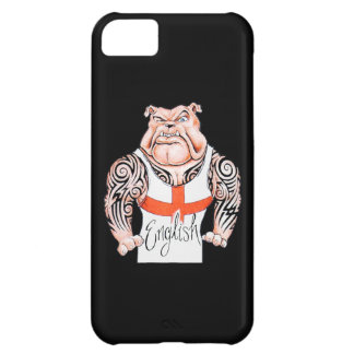English Bulldog with Tribal Tattoo on Arms iPhone 5C Covers