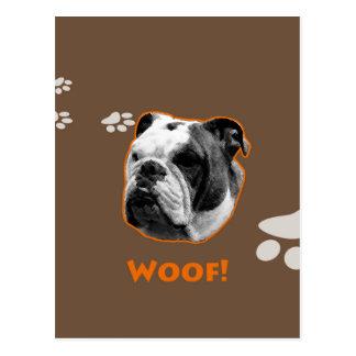 English Bulldog Woof Postcard