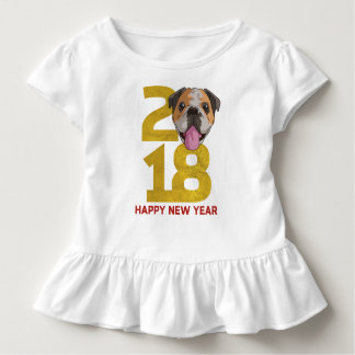English bulldog Year of the Dog 2018 New Year Toddler T-Shirt